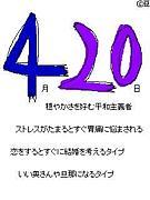 1989年4月20日生まれ