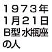 1973年1/21生まれB型