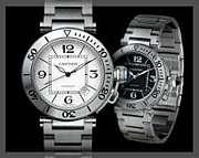 シルバーの腕時計