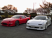 山梨の三菱GTO乗り集合〜♪