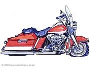 Harley touring model in FUKUI
