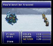 氷づけになるがいい!