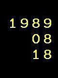 ☆1989年8月18日生まれ☆