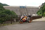 バイクでダム巡り