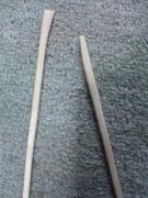 割り箸が上手く割れません・・・