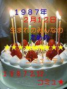 1987年2月12日生まれの人☆