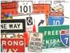 アメリカン看板、道路標識
