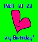 1987年10月23日生まれ♪