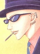帽子に眼鏡