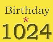 Birthday*1024