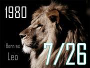 1980年7月26日生まれ!