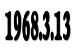 1968年(S43年)3月13日生まれ