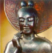 中宮寺 国宝・菩薩半跏像