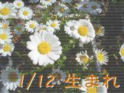 1/12生まれ