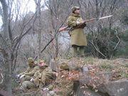 日本軍の軍装を楽しむ。
