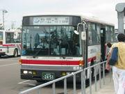 札幌ドームへはシャトルバス派