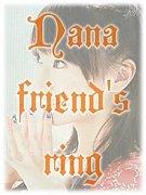 """水樹奈々""""nana friend's ring"""""""