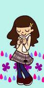 une fille dans la pluie