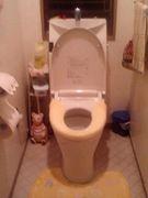 裸でトイレ