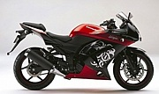 Ninja 250R 黒×赤10SE
