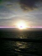 日の出を見て感動した。