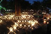 多摩川キャンドルナイト 灯と人