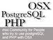 OSX + PostgreSQL + PHP