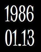 1986年1月13日生まれ