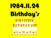 1984年11日24日生まれ!!!