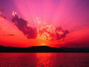 夕焼け小焼け丸焼け太陽