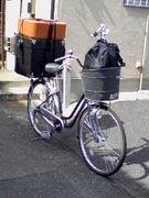 ドラムセットを自転車で運ぶ