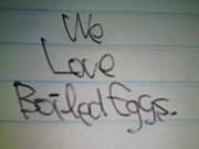 ゆで卵を愛でる会。