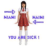英字のマイアミが舞美に見える病