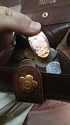 スーベニアメダルはお財布へ