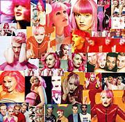ピンクの髪のGwen Stefani