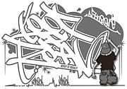北陸でグラフィティ(graffiti)
