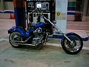 奈良のアメリカンバイク乗り