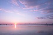 Shimmer daybreak sea