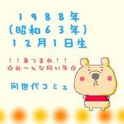 1988(昭和63)年12月1日生まれ
