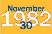 1982年11月30日生まれ