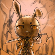 変ウサギ。あーさー。