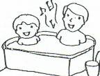 お風呂で歌を歌 っています