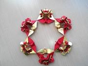 折り紙の花と折り鶴