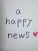 a happy news!