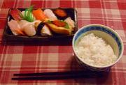 握り寿司をオカズにご飯が食える