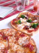 ピザでご飯
