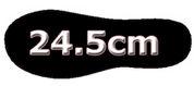 靴のサイズが24.5cmです。