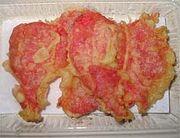 関西名物紅ショウガの天ぷら