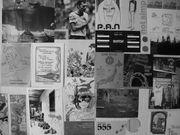 壁にポストカード