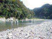 古座川にて泳ぐ